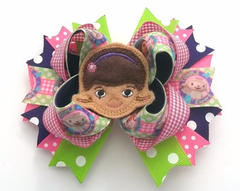 Birthday Theme Hair Bow Baby, Toddler. Girls Boutique Hair Bow Girls Hair Bows Toddler Hair Bow Felt Hair Bow