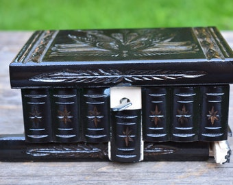 DECORATIVE boxes, Mystery box, Wooden jewelry box, secret stash box, personalized SECRET BOX with lock compartment, Puzzle Box unique gifts