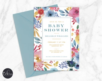 Baby Shower Invitation, Personalized, DIY Digital Printable Invite (303)