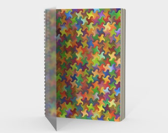 Colorful Notebook, Funky Drawing Notebook, Original Sketchbook, Multicolored sketchbook, Abstract Sketchbook