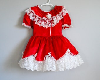 Bright party dress - size 6 years