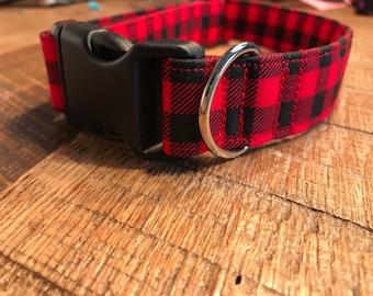 Buffalo Plaid- Dog Collar, Pet collar, Cat Collar