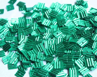 100 Green Square Shape Sequins/KBSS245a