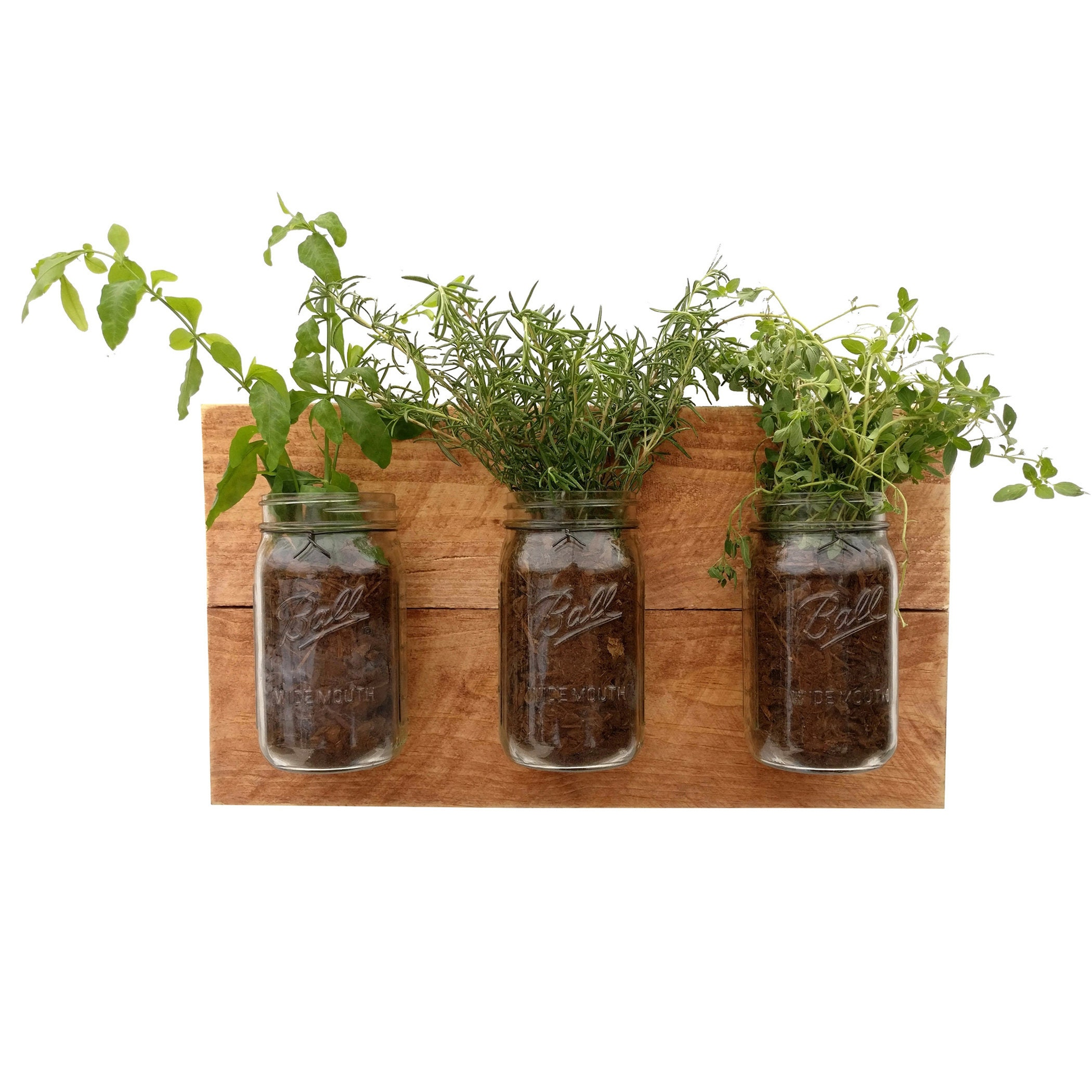 zoom Reclaimed Wood Hanging Planter vertical wall