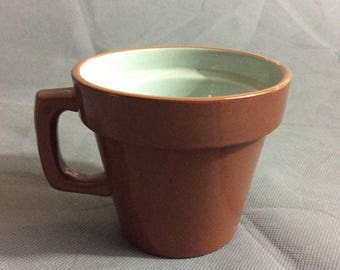 Vintage Stangl Pottery Brown Terra Cotta Themed Ceramic Coffee Tea Drink Mug