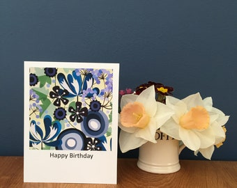 Shades of Blue Greetings Card