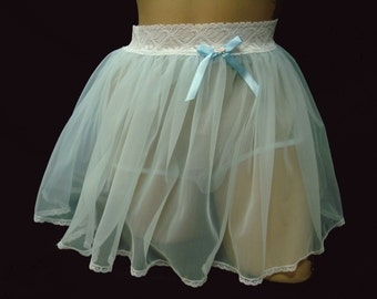 Adult Sissy Skirted Panties totally Sheer Nylon Tricot Custom made for you