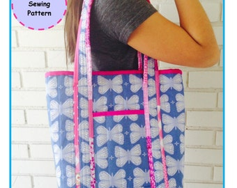 PDF The Kate's Tote - Zakka Sewing Pattern - Instant Download