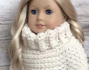 DIY Crochet Pattern – 18 inch Doll Fisherman's Poncho PDF 06 (Fits American Girl Dolls) – Digital Download
