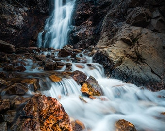 Atmospheric Waterfall Photograph