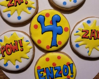 Superhero cookies (12)
