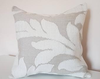 Cream/Beige Pillow Cover, Cushion Cover, Floral design, Pillow case