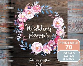 """Wedding Planner Printable Wedding Planner Wedding Binder DIY planning organizer 8.5x11"""" Instant Download PDF"""
