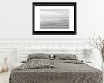 Coastal Wall Art-B&W Seascape-Beach Wall Decor-Large Wall Print-Minimalist-Landscape-Gray Wall Art-Fine Art Photography-Unmatted Print-24x36