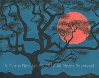 "11 x 14 inch Fine Art Print ""Serengeti Moonrise"""