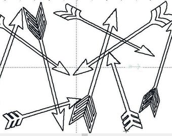 Tribal arrow embroidery quilting design in 5x7, 6x10, 8x12, and 9x14 inch frames. Don't pay high quilting prices do it yourself.