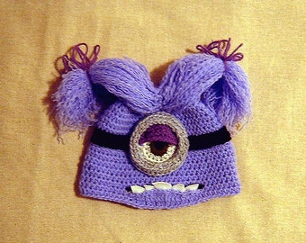 Halloween Evil Monster Hat - INSTANT DOWNLOAD Crochet Pattern