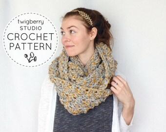 Crochet Scarf PATTERN, Crochet Cowl Pattern, Chunky Cowl Pattern,  Infinity Scarf Pattern, Chunky Scarf Pattern, Crochet Infinity Pattern