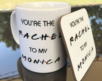 Rachel and Monica 'Friends' Mug and Coaster Gift Set