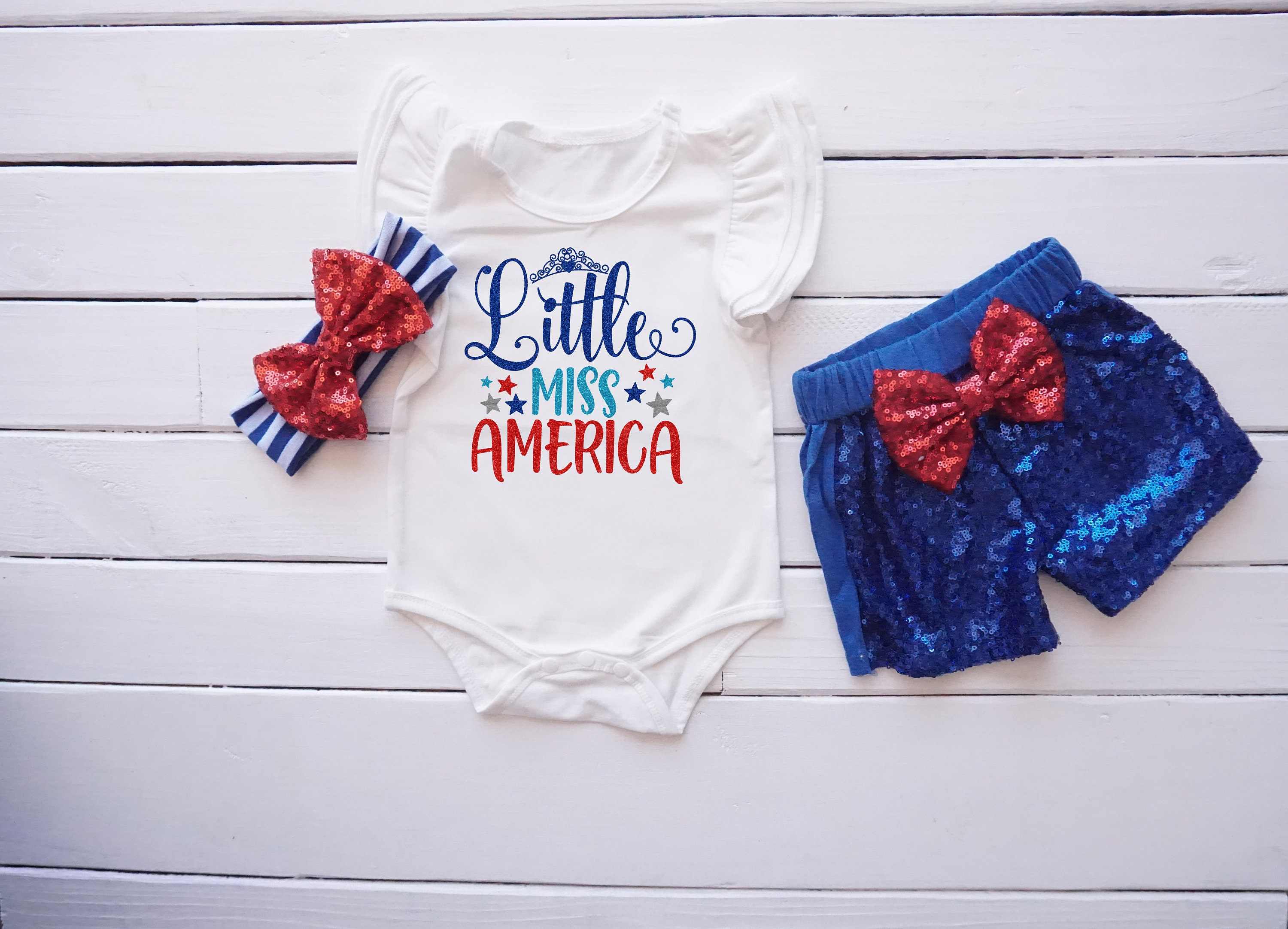 Little Miss America Outfit Fourth of July Outfit First 4th