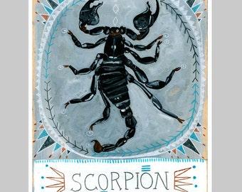 Animal Totem Print - Scorpion