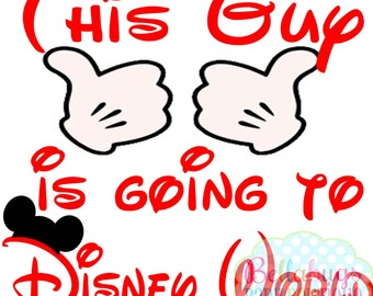 Mouse Hands INSTANT DOWNLOAD Digital Iron-On Transfer Design - This Guy is going to Disney World - DIY - Do It Yourself - Vacation - Disney