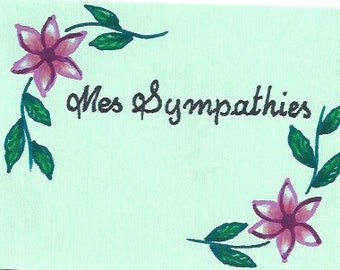 Sympathy Cards 5 for 5 dollars