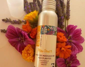 herbal skin organic massage oil