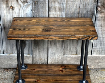 Industrial end table Etsy