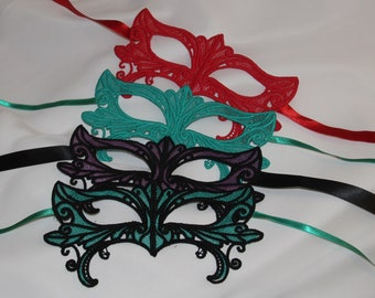 Final sale lace mask several colours