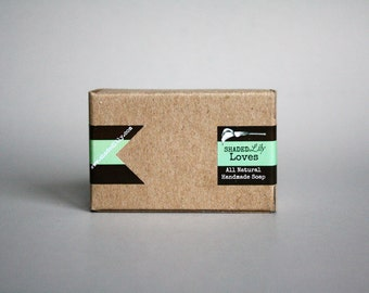 Natural handmade soap, Vegan handcrafted artisan soap, brown cocoa butter soap, chocolate mint soap