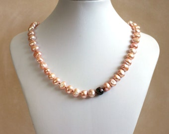 Fresh Water Pearls with Offset Bead