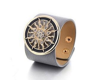 Grey Sun Cuff Bracelet
