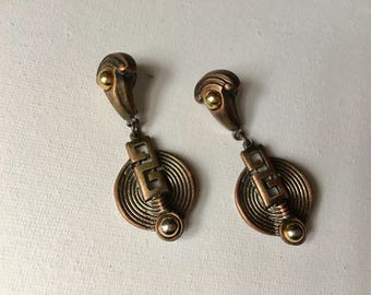 Vintage tribal statement earrings
