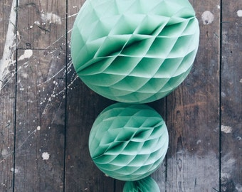 Honeycomb ball | Pretty Paper Balls | Decoration | Party | Birthday | Wedding | Mint | 10cm | 20cm | 30cm