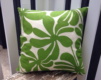 40cm Outdoor cushion cover in Premier Prints Twirly Greenage Indoor/Outdoor Fabric