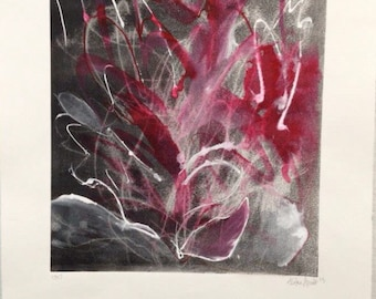 """Watercolor and monotype, """"under it all"""""""
