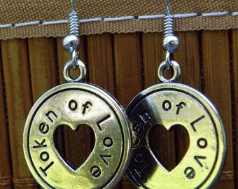 Earrings, Token of Love with French Wires, jewelry (386)