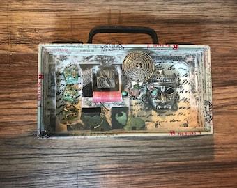 Original Assemblage Art, Vintage Finds, Recycled art, Original Art, Tribal