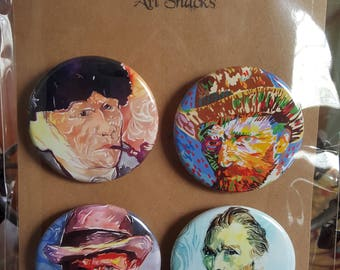 Art Snacks - Pinback Badges