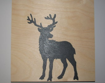 Deer wooden frame