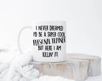 World's Best Trainer, Gift For Trainer, Personal Trainer Mug, Personal Trainer Gifts, Weightlifting, Workout Gift, Fitness Gift,Workout Gift