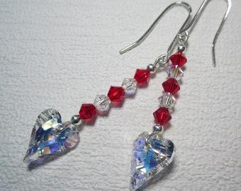 Swarvoski Wild Heart Drop Crystal Earrings