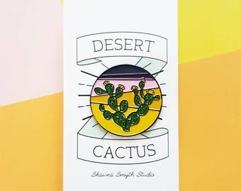 Desert Cactus Enamel Pin - Lapel Pin