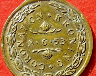 1953 South Africa Medal For The Coronation Kroning Of Queen Elizabeth