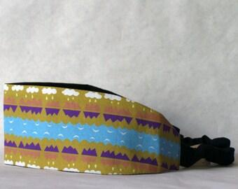 SALE !! Headband, mountain, mustard