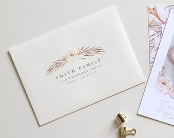 Custom Envelope Printing | Floral Script Printing, Custom Envelope Addressing, Botanical Envelope, Floral Wedding Envelope Addressing,