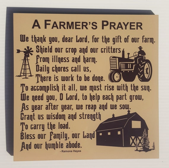 FARMER'S PRAYER, Farm Blessing, American Farmer,  Family Farm, Farm Life, Christian Farmer, Farm Family, Farm Plaque, Farm Decor, Farmer