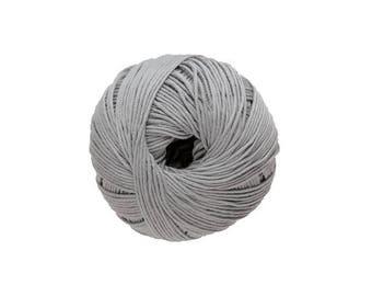 Cotton knit or crochet silver gray 9 Natura
