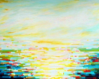 Water View no. 2 (40x30) original painting on canvas by Kristi Taylor